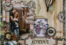 Scrapbooking / Scrabooking: a creative hobby to organize photos in an original album, cards, notebooks and boxes.