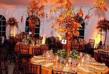 Autumn Fall Wedding Ideas / Unique ideas and tips for fall autumn and fall theme weddings