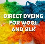 Dyeing wool and silk