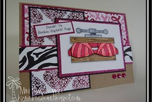 Cards_Breast Cancer / Breast Cancer theme cards made using Whimsie Doodles digital stamps