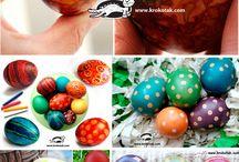 Egg Decoration - Easter / Διάφορες ιδέες για να διακοσμήσετε ή να βάψετε τα αυγά σας το Πάσχα  / by Popi-it.gr