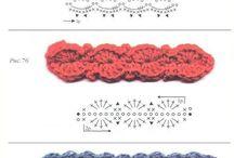 Projetos para experimentar...crochê e knitting