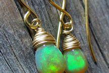 Opal Earrings / Opal Earrings handmade with genuine Ethiopian Opal, Australian Opal, Black Opal, Fire Opal, Crystal Opal and Blue Opal.