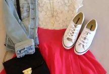 white chucks& skater skirts