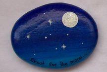 Måne og stjerner