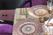 African inspired table settings and decor