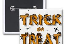 Halloween   Designs by Blue Beach Song™ / The holidays, special days and seasons of our lives help us mark and track the passage of time, collecting memories as we share traditions, time, food, music, gifts, and greeting cards with each other. One of our best-loved traditions is to go Trick-or-Treating with our kids or with friends. Pick any product you want and customize it with a name. Make Halloween just a little more fun! Halloween designs by Martie Hevia   Blue Beach Song. (http://www.zazzle.com/bluebeachsong   BlueBeachSong.com)
