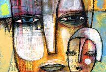 Visages / Toiles représentant des visages graphiqued