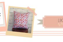 Cushions by Stacey / Think stunning designer fabrics, totally on trend, sewn into gorgeous cushions...