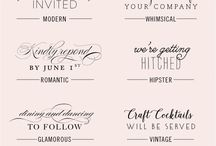 Fonts for Wedding Invites / Wedding Invitations