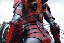 Cosplayers / Exhibición de cosplays profesionales.