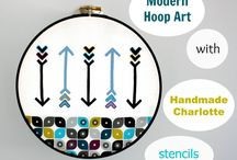 Embroidery Hoop Art Inspiration / by Lori Allred {allreddesign.net}