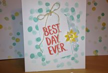 Best Day Ever Card Ideas / by Laurie Graham: Avon Rep/Stampin' Up! Demo