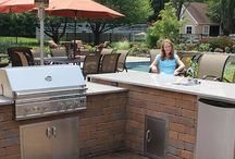 Nicolock Outdoor Kitchens / Imagine a picture perfect summer night with family and friends cooking with Nicolock paver's outdoor living kitchen and pizza ovens! Easy kits, perfect for making classic memories!