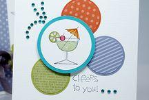 Handmade Cards- SU- Happy Hour