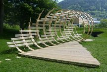 Wood installations / for our project for Bergen International Wood Festival 2016