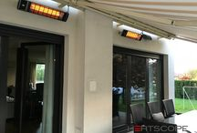 Terrace - heating / Make patio designs more comfortable for cold months adding a heater. Infrared heaters HEATSCOPE for balkony, terrase, patio or veranda.