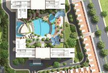 Denah Plan Apartemen West Vista / Denah / plan West Vista apartemen Jakarta Barat (Keppel Land). Termasuk master plan, blok plan, floor plan, siteplan.