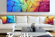 Pintura tela abstrato