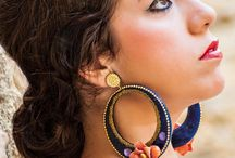 COMPLEMENTOS jewerly accessories / Complementos de flamenca y fiesta (flamenco earrings)