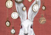 Rabbits / Art, illustrations, funny , cute .... Rabbits ❤️