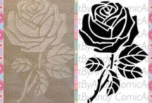Rose Stencils / Decopatch
