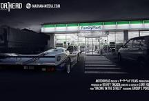 Cars: Racing cars on the street...