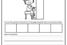 1st grade sentence building