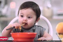 Prinsessa / Barn som lär äta själv