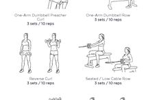 upper body workouts / by Blaire Elbert