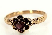 Garnet Daisy Rings