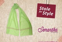 Stole for Style / This stole is an irresistible fashion accessory you can add to your wardrobe today. To find out visit: http://semantika.in/