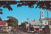 Main Street Chatham / A series of historic post cards featuring photos and images from Main Street in Chatham, MA. #chatham, #chathamhistoricalsociety, #mainstreet, #capecod