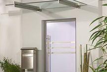 Cam kapı saçağı / glass canopy