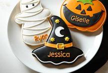halloween cookies, cupcakes, cakes.