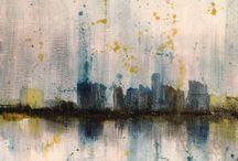 Abstrakte Malerier / Abstrakte billeder
