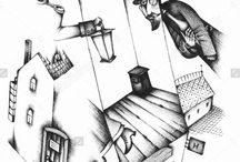 Russian writers by Eugene Ivanov / Eugene Ivanov's portfolio on shutterstock: https://www.shutterstock.com/g/eugene_ivanov #@eugene_1_ivanov