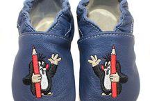 Der kleine Maulwurf Schuhe Lederpuschen