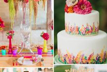 Pop colorful wedding
