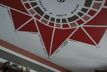 compass rose / my last wall decor on my ceiling a compass rose dedicated to my two stunning little sons.