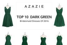 DRESS DARK GREEN