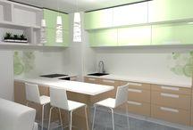 očkodesign - 3d návrh kuchyně s obývacím pokojem
