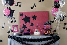 festa balada pink e preto