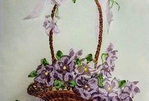 vyšívané kvety
