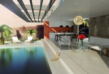 Pool house renders / Architectural Visualization