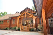 Timber Frame Exteriors / If you you use SIPS (structural insulated panels) to enclose your timber frame - you can choose just about any finish for the out side.