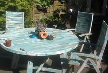 Lida Zuiderwijk / Creatief met opknappen tafel