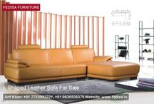 L SHAPED LEATHER SOFAS