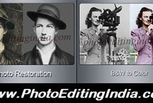 PHOTO RETOUCHING and RESTORATION @ PhotoEditingIndia.com / Old photos always have some unforgettable memories attached to them and everyone wants to preserve them forever. Our Photo Retouching & Photo Restoration Services can help you rebuild & enhance old/damaged images and even preserve them endlessly. We offer you Photo Retouching, Restore Damaged/Torn Images, Beauty Retouching, Skin Retouching, Wrinkle Removal, Fix Flaws in Images, Color the Black and White Photos, Remove Red Eye, Contrast/Exposure/Color Corrections and other Image Enhancements..!!!