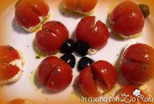 Antipasti / tartine, pizzette, e ogni tipo di ricetta utilizzabile come antipasto.